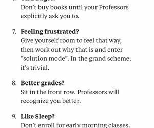 college, college hacks, and important college image