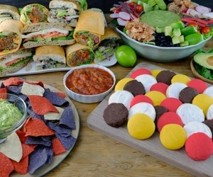 goodie tray, may combo party platter, and fiesta sandwich tray image