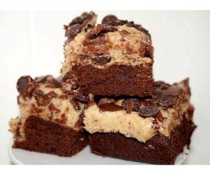 brownie, cookiedough, and cake image