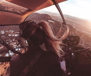 girl, goals, and helicopter image