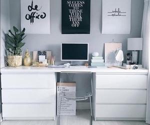 decor, desk, and ikea image