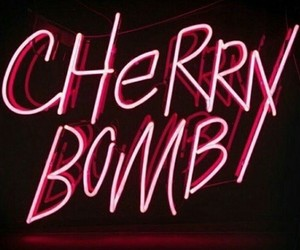 neon, cherry, and light image