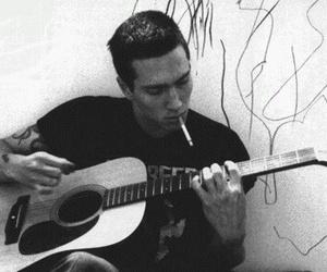 John Frusciante, guitar, and cigarette image