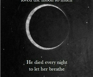 moon, life quotes, and sad quotes image