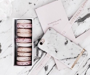 marble, macaroons, and food image