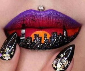 art, girl, and lips image
