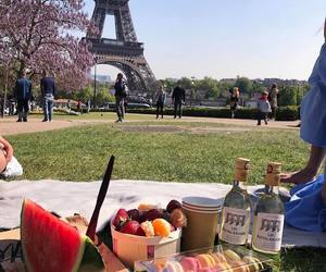 paris, picnic, and travel image
