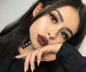 girl, makeup, and lips image