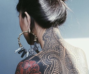 asian, earrings, and female image
