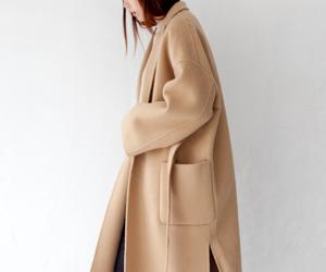 brunette, fashion, and coat image