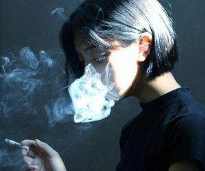 smoke, smoking, and black image