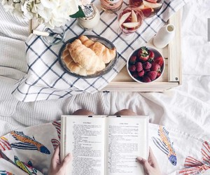 book, breakfast, and food image
