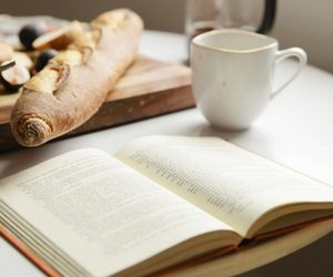 book, bread, and breakfast image