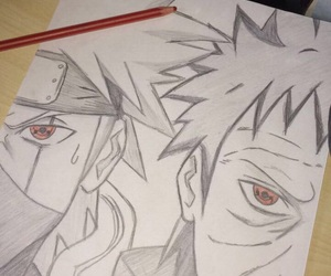 anime, draw, and drawing image
