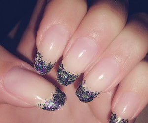 bright, glittery, and nails image
