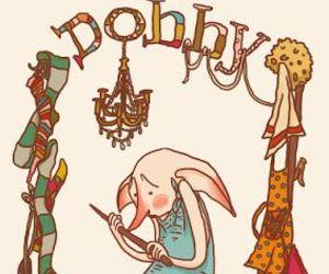 harry potter, dobby, and art image