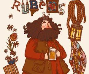harry potter, hagrid, and rubeus hagrid image