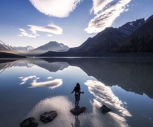 clouds, new zealand, and travel image