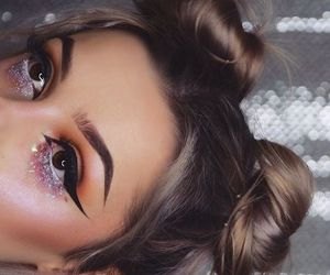 girl, glitter, and make up image