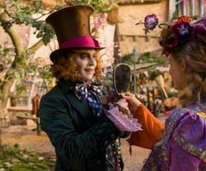 alice, mad hatter, and alice in wonderland image