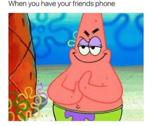 patrick, funny, and phone image