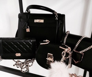 bag, black, and purse image