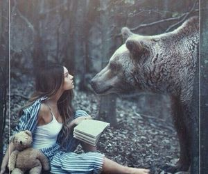 bear, fairy tale, and forest image