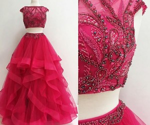 dress, prom dress, and style image