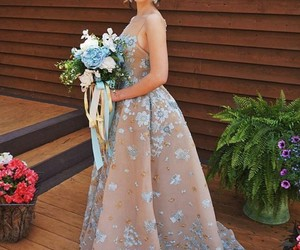 dress, gowns, and make up image