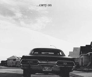 supernatural, impala, and black and white image