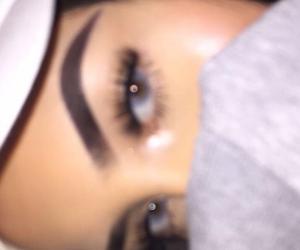 blue eyes, girl girls makeup, and drawing outline baddie image