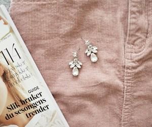 corduroy, earrings, and fashion image
