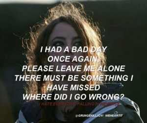 emo, grunge, and Lyrics image