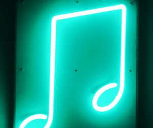 green, music, and neon image