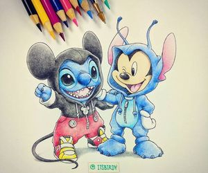 disney, stitch, and art image