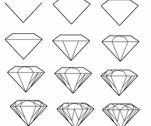 diamond, drawing, and diy image