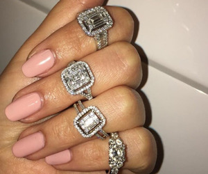 rings, luxury, and diamonds image