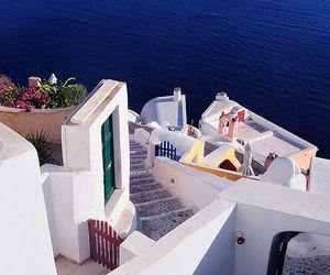 Greece, santorini, and ocean image