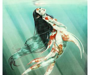 creature, fantasy, and mermaid image