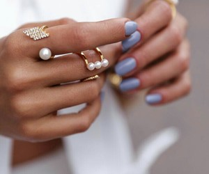 lady, ring, and nails image