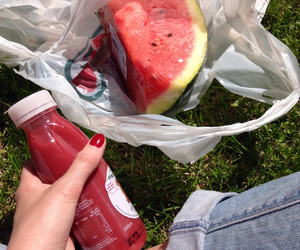 food, summer, and watermelon image