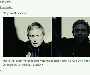 sherlock, tumblr, and johnlock image