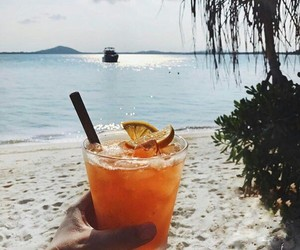 cocktail, delicious, and drinking image