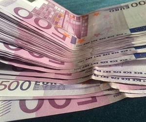 euro, money, and pink image