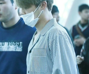bts, airport, and park jimin image