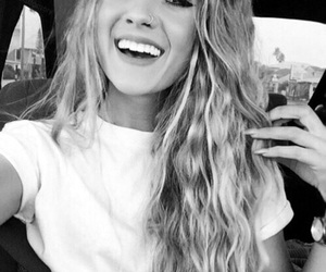 black and white, smile, and tumblr image