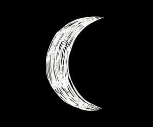 moon, wallpaper, and black image