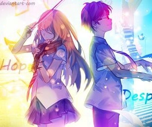 your lie in april, piano, and anime image