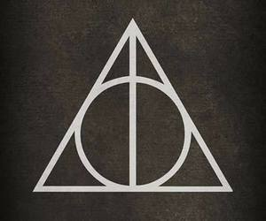 harry potter, deathly hallows, and space image