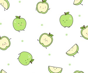 apple, wallpaper, and green image